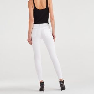 7 For All Mankind Gwenevere White Skinny Jean